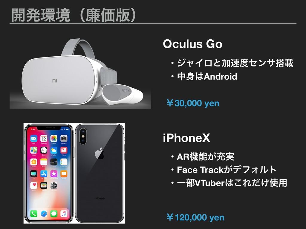 ։ൃڥʢ྿Ձ൛ʣ Oculus Go iPhoneX ɾARػ͕ॆ࣮ ɾδϟΠϩͱՃη...