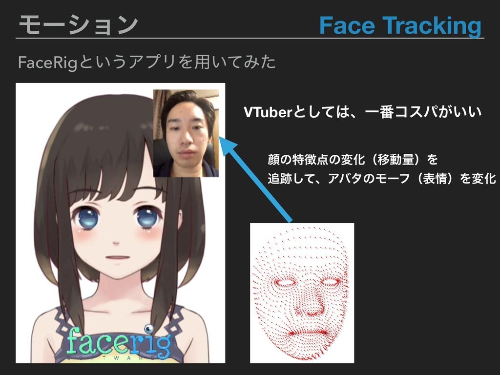 Ϟʔγϣϯ Face Tracking FaceRigͱ͍͏ΞϓϦΛ༻͍ͯΈͨ VTuberͱ...