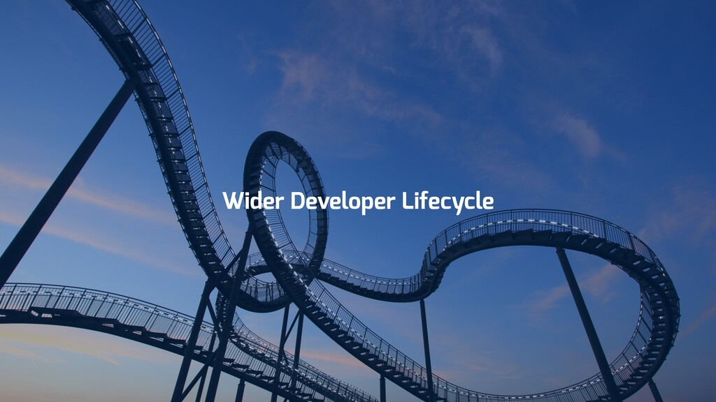 Wider Developer Lifecycle