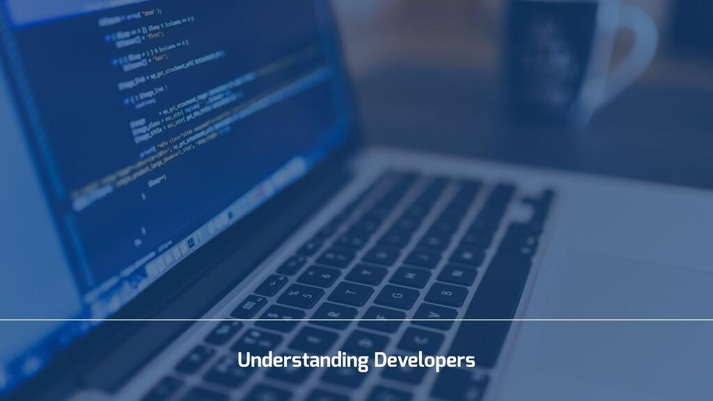 Understanding Developers