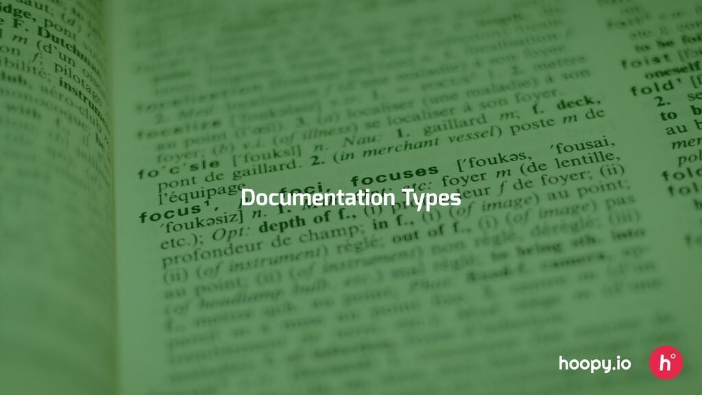 Documentation Types hoopy.io