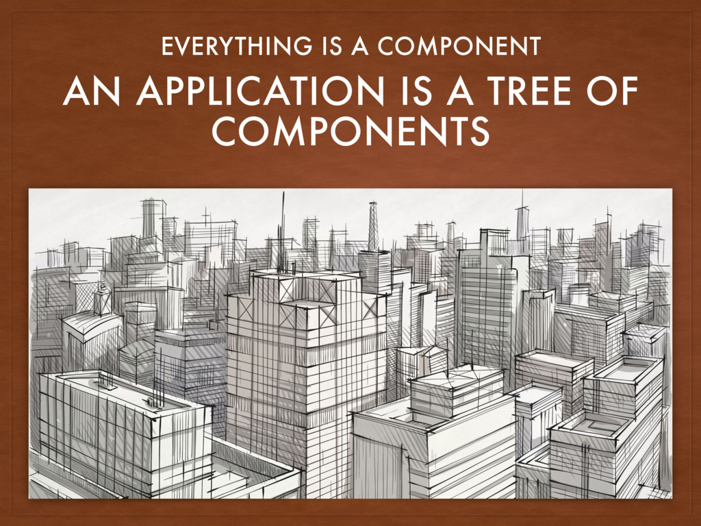 AN APPLICATION IS A TREE OF COMPONENTS EVERYTHI...