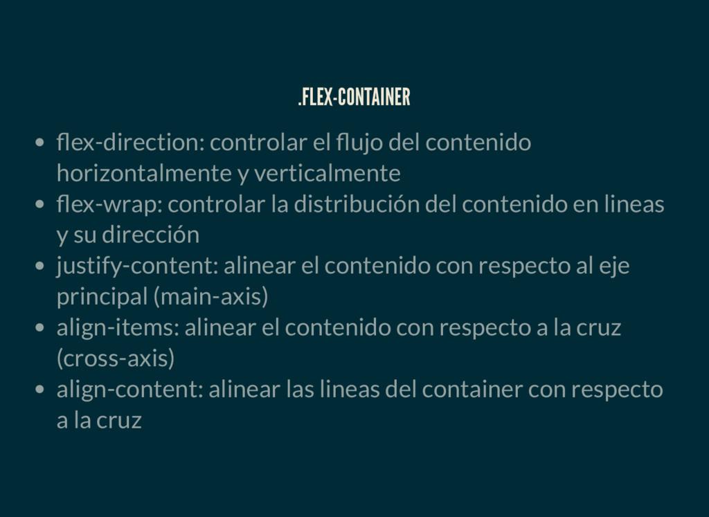 .FLEX-CONTAINER ex-direction: controlar el ujo ...