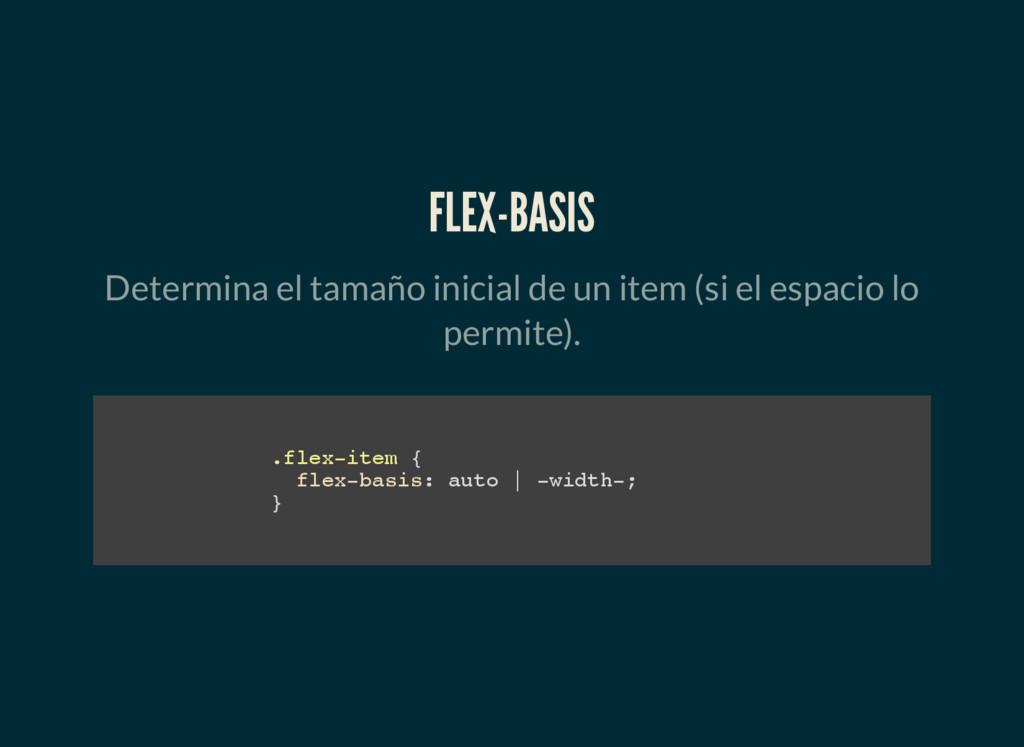 FLEX-BASIS Determina el tamaño inicial de un it...