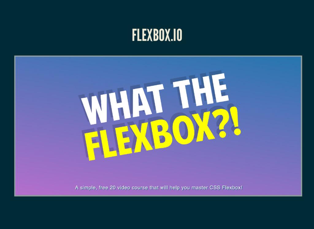 FLEXBOX.IO
