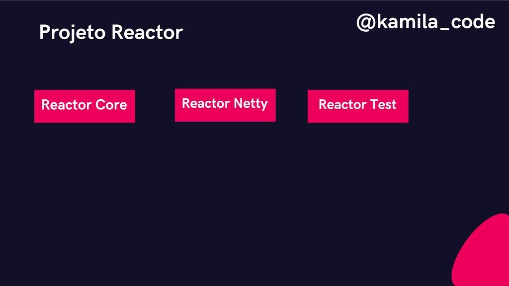 Projeto Reactor Reactor Core Reactor Netty Reac...