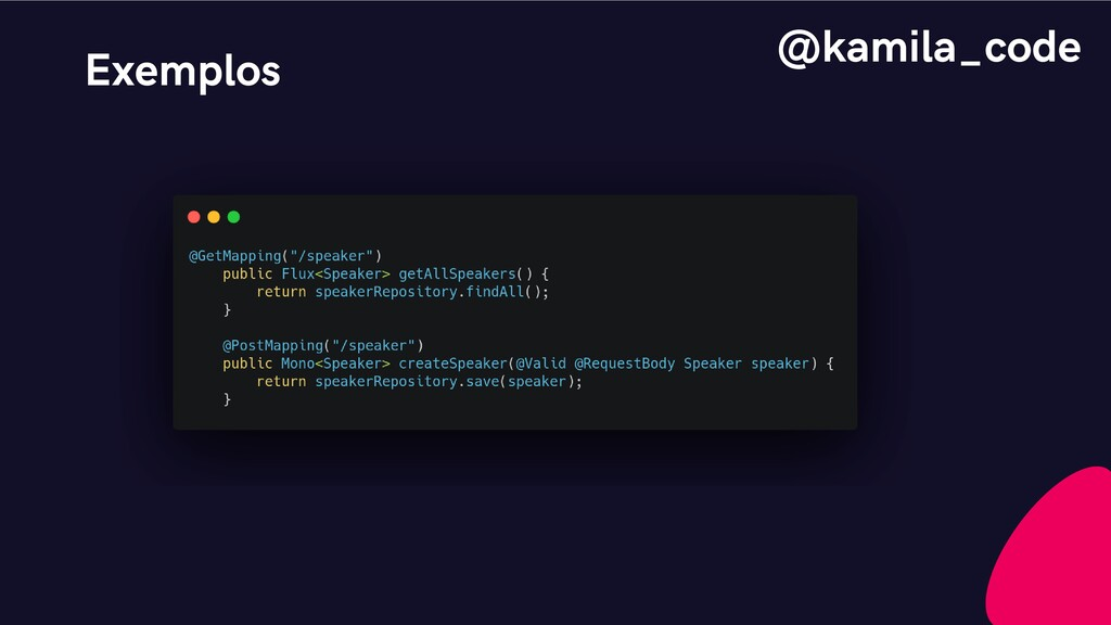 Exemplos @kamila_code