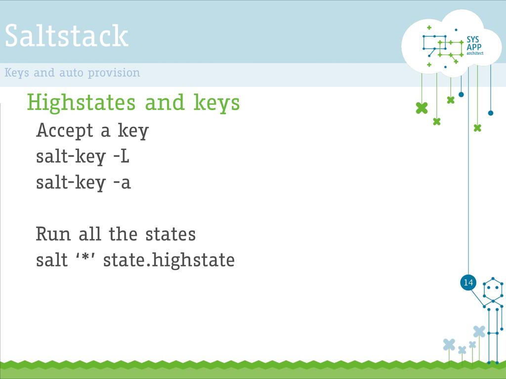 Saltstack Highstates and keys Accept a key salt...