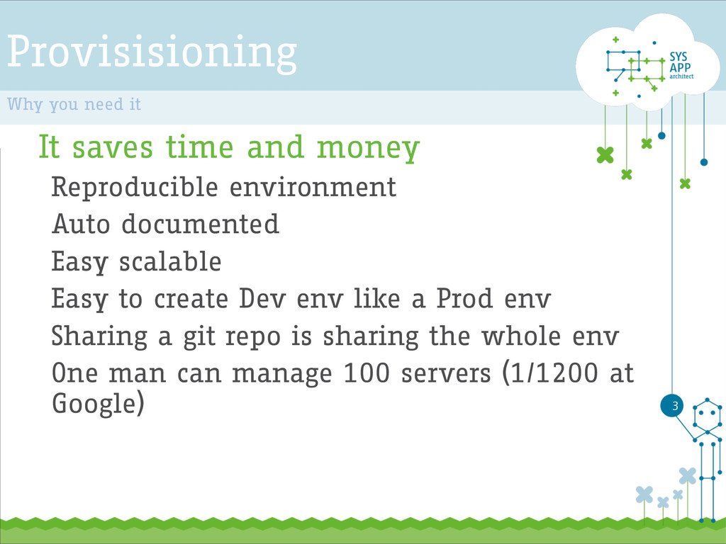 Provisisioning It saves time and money Reproduc...