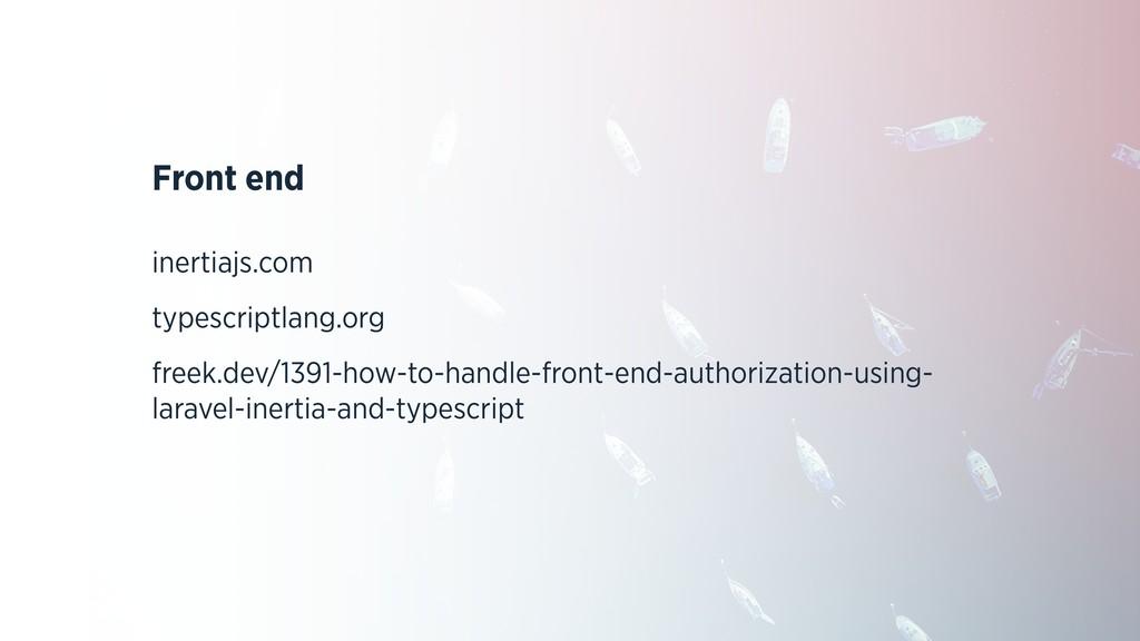 Front end inertiajs.com typescriptlang.org free...