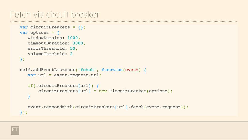 Fetch via circuit breaker var circuitBreakers =...