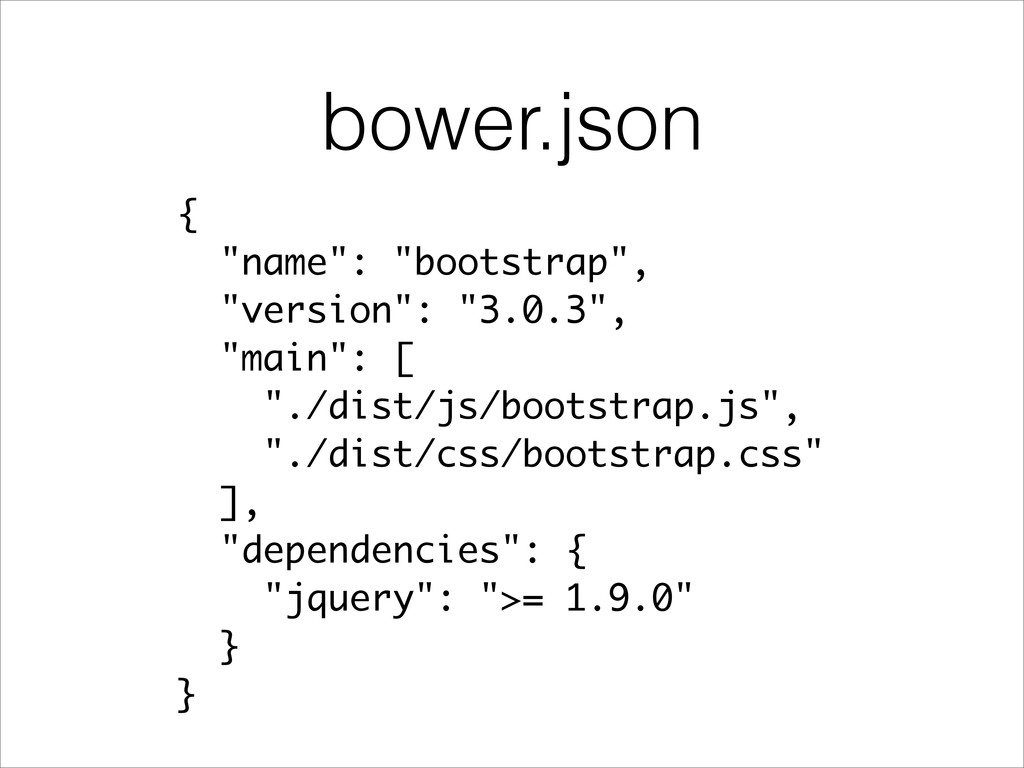 "bower.json { ""name"": ""bootstrap"", ""version"": ""3..."