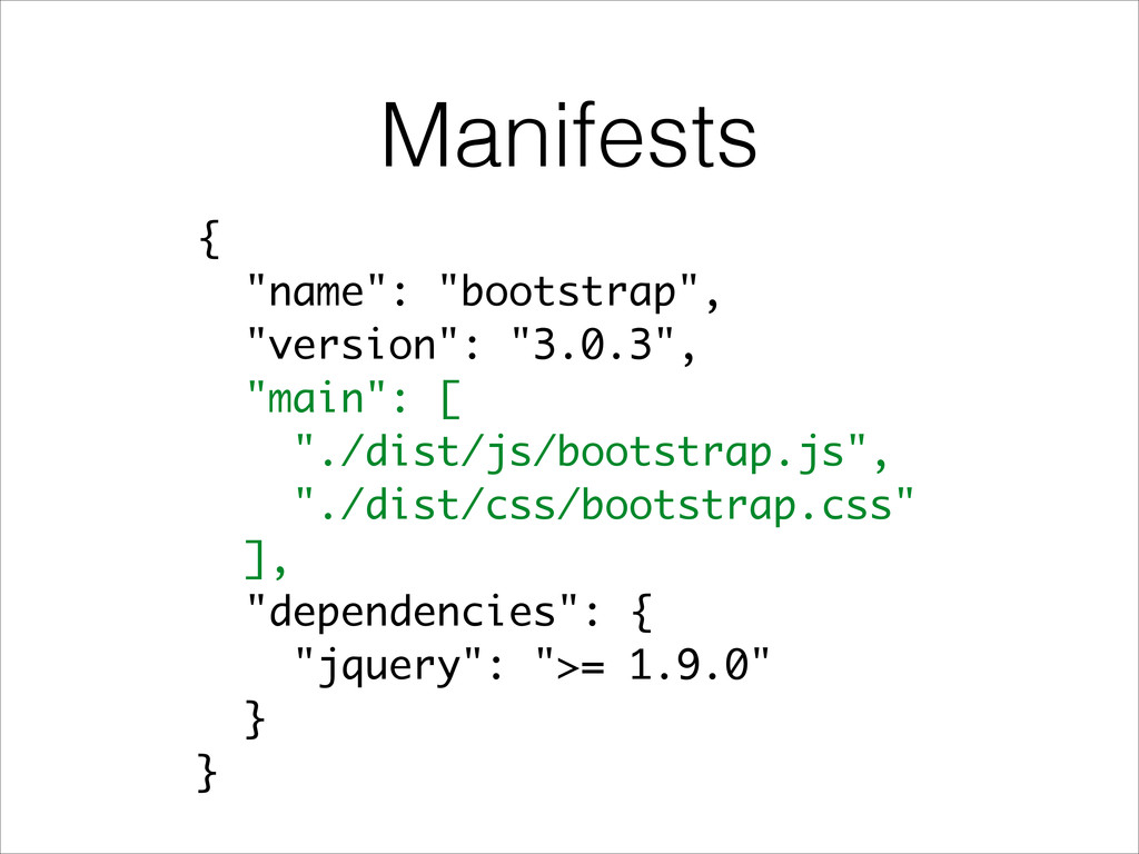 "Manifests { ""name"": ""bootstrap"", ""version"": ""3...."