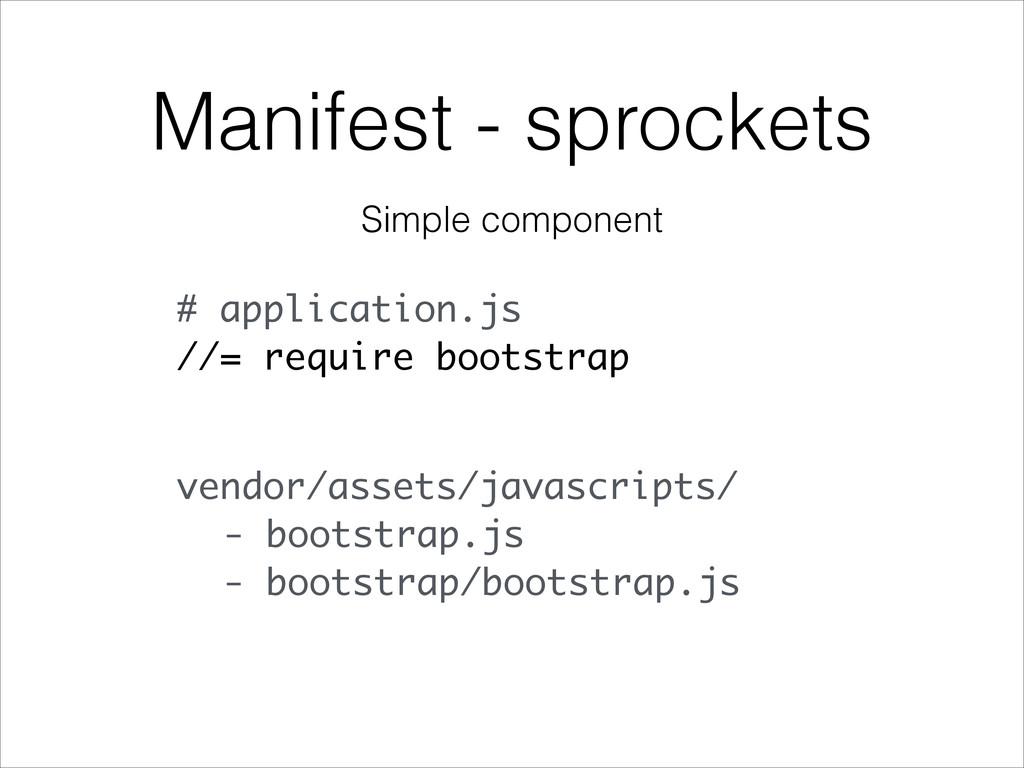 Manifest - sprockets # application.js //= requi...