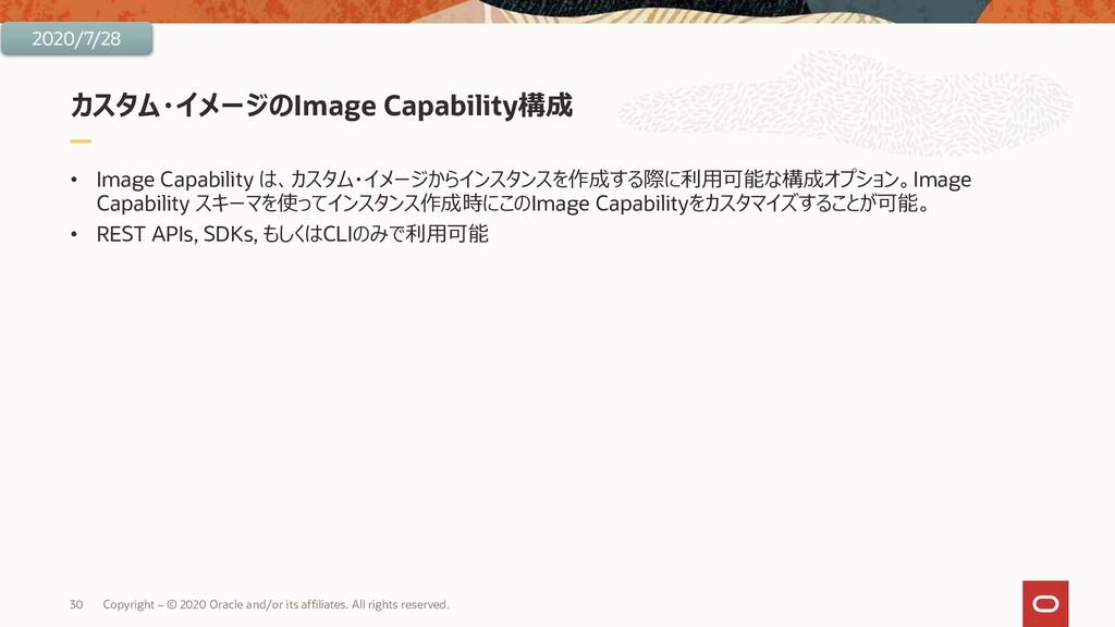 カスタム・イメージのImage Capability構成 • Image Capability...