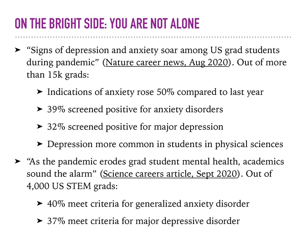 "ON THE BRIGHT SIDE: YOU ARE NOT ALONE ➤ ""Signs ..."