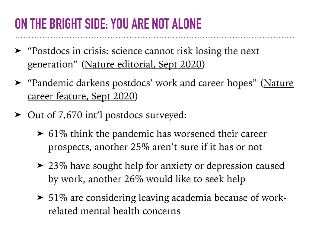 "ON THE BRIGHT SIDE: YOU ARE NOT ALONE ➤ ""Postdo..."