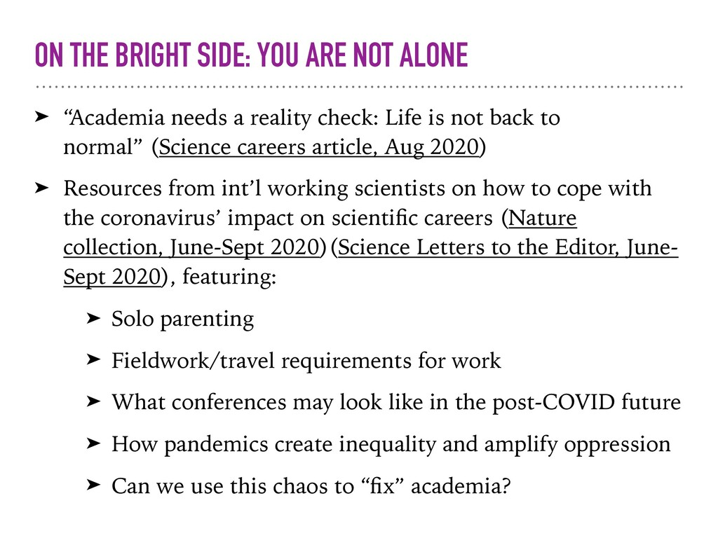 "ON THE BRIGHT SIDE: YOU ARE NOT ALONE ➤ ""Academ..."