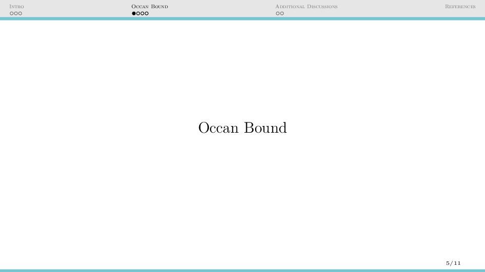Intro Occan Bound Additional Discussions Refere...