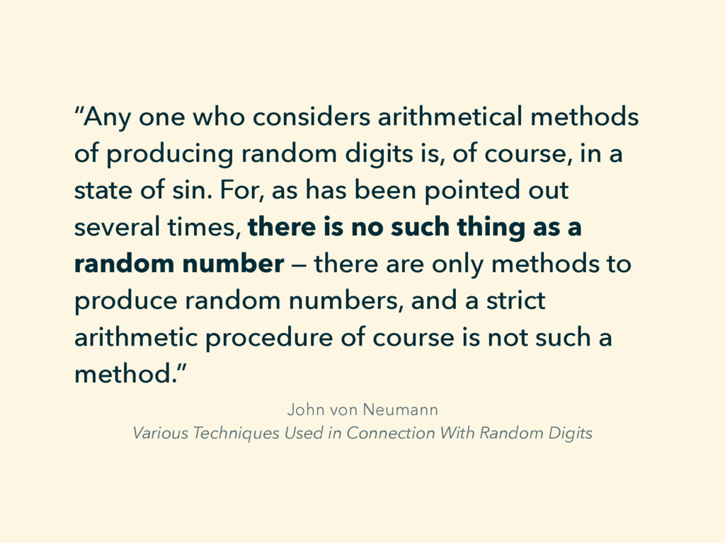 John von Neumann Various Techniques Used in Con...