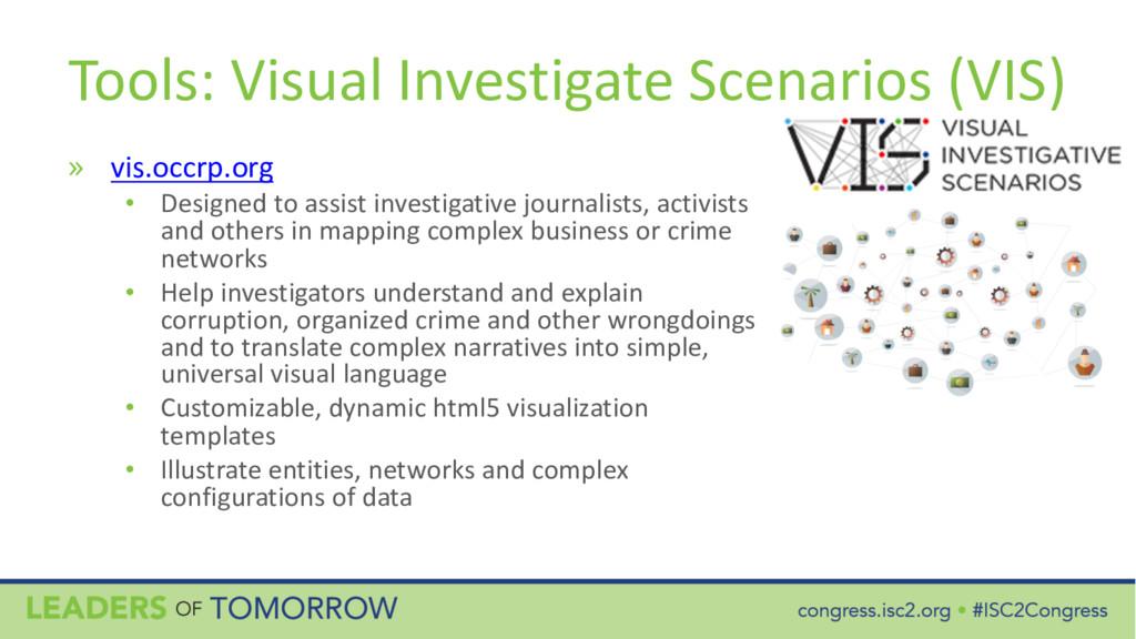 Tools: Visual Investigate Scenarios (VIS) » vis...