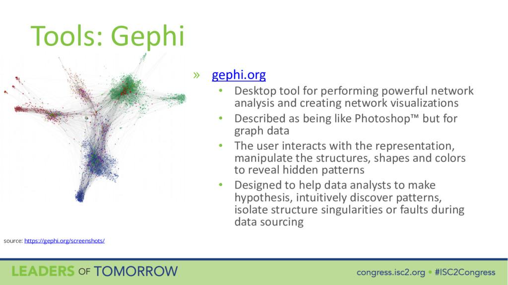 Tools: Gephi » gephi.org • Desktop tool for per...