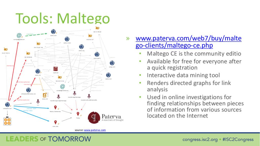 Tools: Maltego » www.paterva.com/web7/buy/malte...