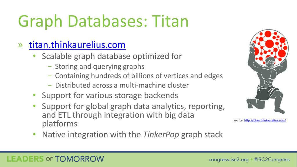 Graph Databases: Titan » titan.thinkaurelius.co...