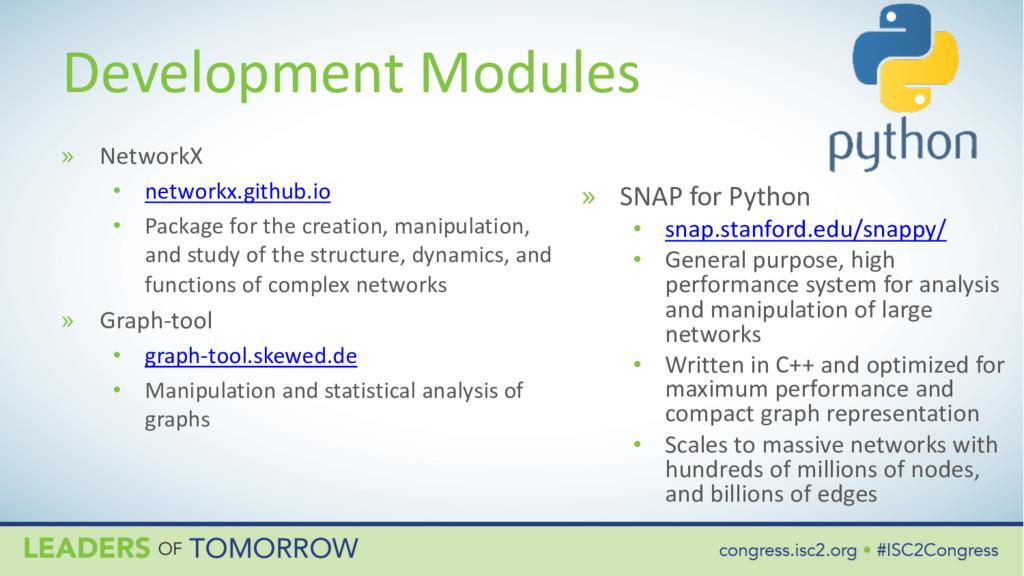 Development Modules » NetworkX • networkx.githu...
