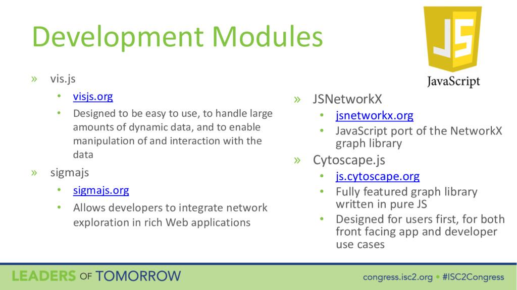 Development Modules » vis.js • visjs.org • Desi...