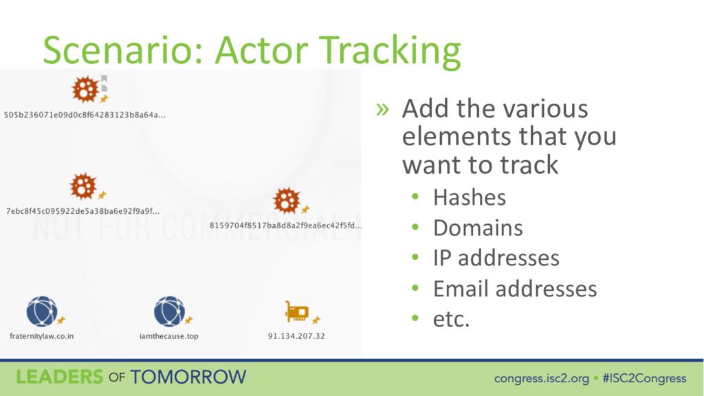 Scenario: Actor Tracking » Add the various elem...