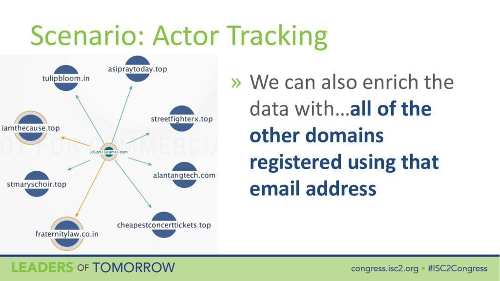 Scenario: Actor Tracking » We can also enrich t...