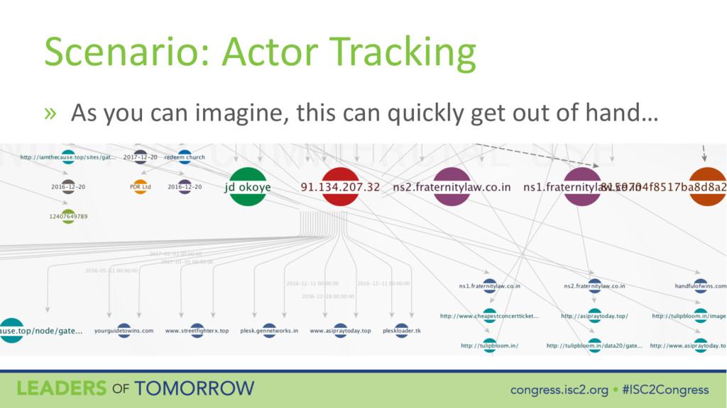 Scenario: Actor Tracking » As you can imagine, ...