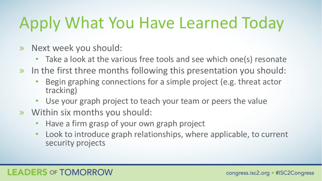 Apply What You Have Learned Today » Next week y...