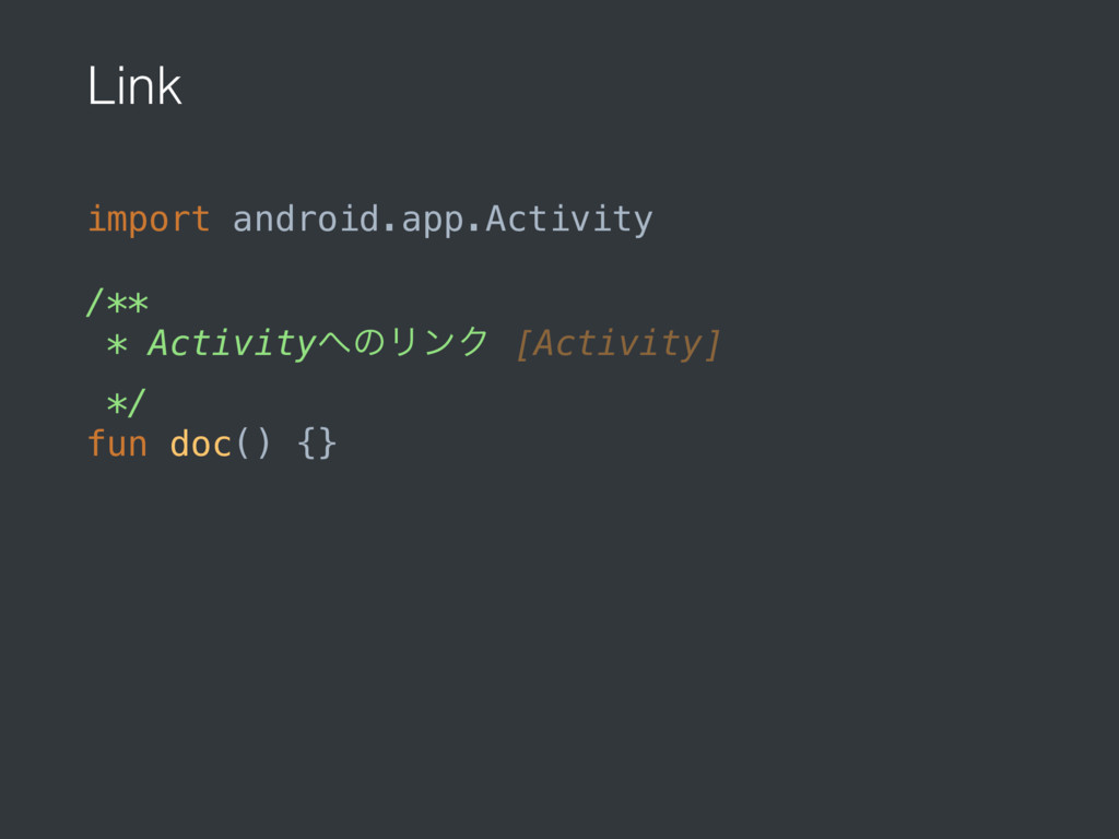 Link import android.app.Activity /** * Activit...