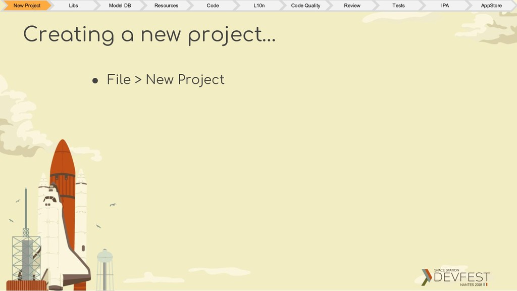 ● File > New Project Creating a new project… Ne...
