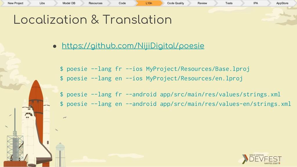 Localization & Translation $ poesie --lang fr -...