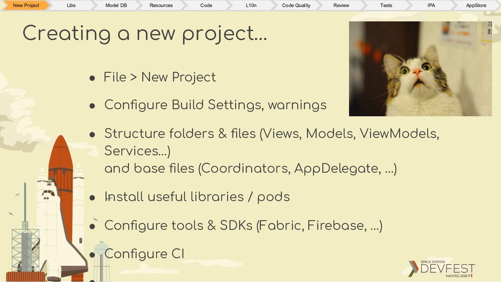 ● File > New Project ● Configure Build Settings,...