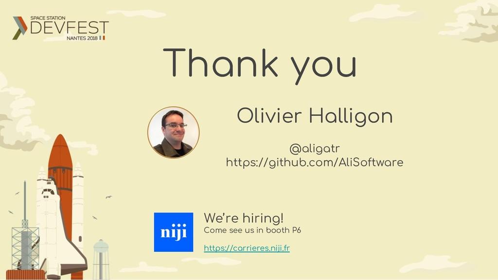 Thank you Olivier Halligon @aligatr https://git...