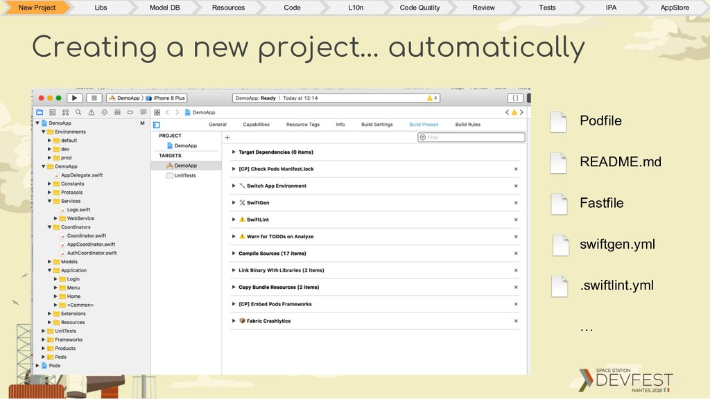 Creating a new project… automatically New Proje...