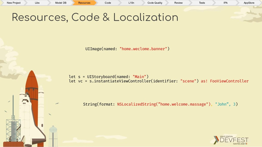 """Resources, Code & Localization UIImage(named: """"..."""