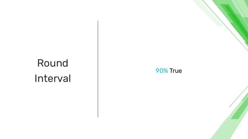 Round Interval 90% True