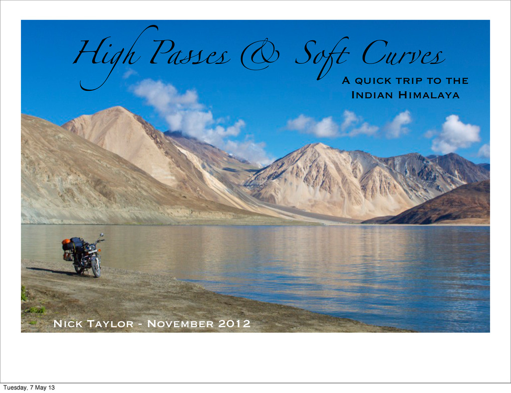 High Passes & So# Curves A quick trip to the In...