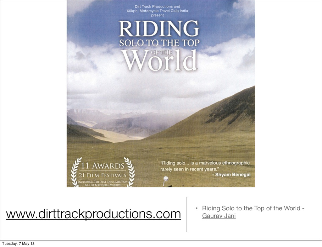 www.dirttrackproductions.com • Riding Solo to t...