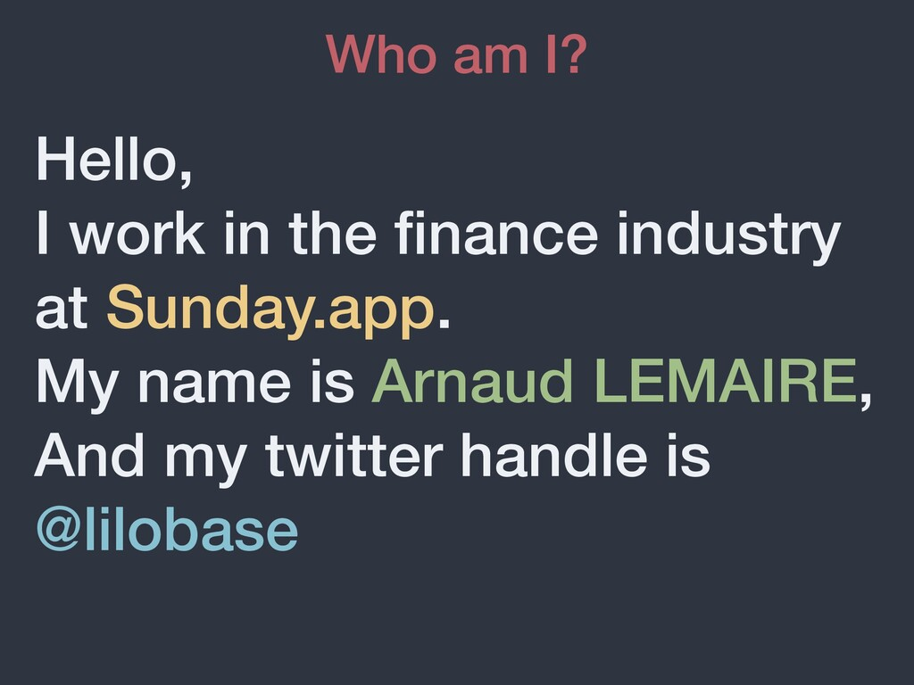 Hello,   I work in the fi nance industry at Sun...