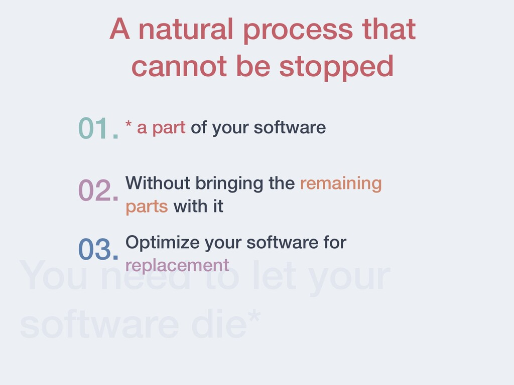 You need to let your software die* * a part of ...