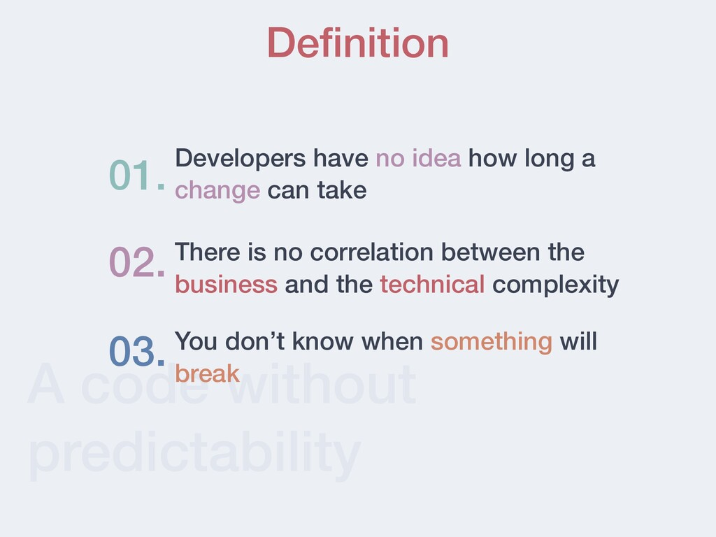 A code without predictability De fi nition Deve...