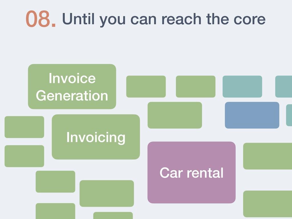 Until you can reach the core 08. Invoice Genera...