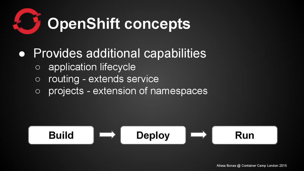 OpenShift concepts ● Provides additional capabi...