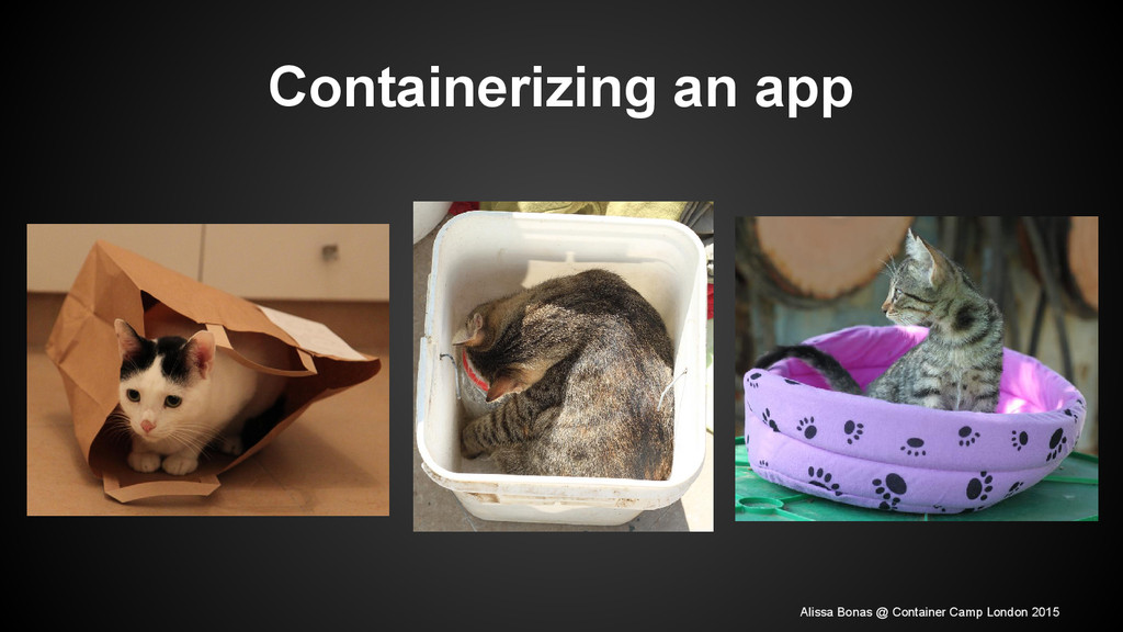 Containerizing an app Alissa Bonas @ Container ...